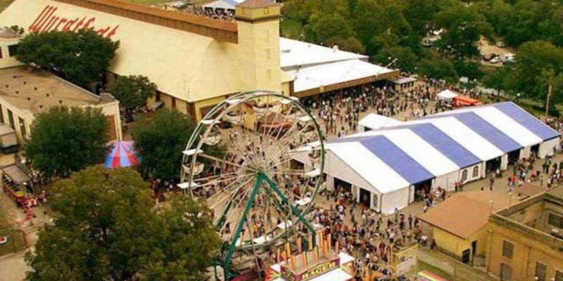 Wurstfest-New-Braunfels-Aerial